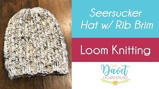 Seersucker Loom Knitted Hat