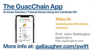 GuacChain - Part 4 - Calculating the Bill in Bitcoin + Other Currencies