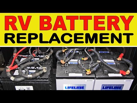 "How To Replace Deep Cycle RV ""House"" Batteries"