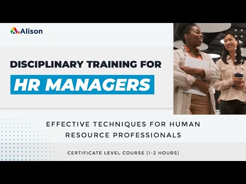 Human Resource Management- Alison Free Online Course Preview ...