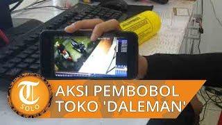 Aksi Pembobol Toko 'Daleman' di Solo Terekam CCTV, Bawa 3 Karung Barang