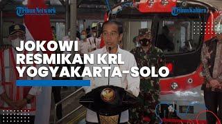 Presiden Jokowi Resmikan Operasi KRL Yogyakarta-Solo, Kereta Cepat dan Ramah Lingkungan