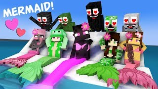 MONSTER SCHOOL WITH MERMAIDS - FUNNY MINECRAFT ANIMATION