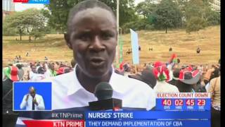 Nurses announce that they will not call off the ongoing strike until the CBA is signed