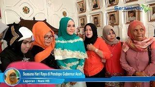 Suasana Hari Raya di Pendopo Gubernur Aceh