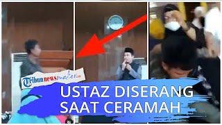 Viral Video Ustaz Diserang saat Ceramah, Jemaah Ibu-ibu Pukuli Pelaku