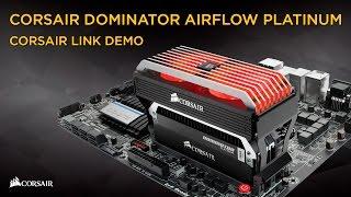 Corsair Dominator Airflow Platinum LED fan and Corsair Link demo