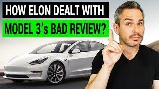 How Elon Musk Dealt with Tesla Model 3's Bad Review - Video Youtube