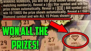 I WON EVERY SINGLE PRIZE On The Lottery Ticket! I Spent $100 On Lottery!