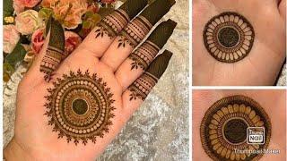 Beautiful Flowers Simple Easy Mandala Gol Tikki Henna Mehndi Designs For Hands For Eid,weddings