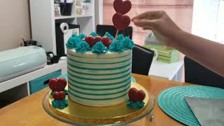 How I cut a 6 inch 3 layer cake ❤