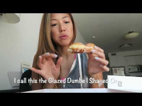 KRISPY KREME DOUGHNUT TASTE TEST AND REVIEW | WATCH JUNE EAT Ep. 1