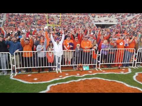 TigerNet.com - Clemson fans react to winning touchdown