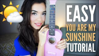 Gambar cover EASY You Are My Sunshine Tutorial for Ukulele (with Free PDF)