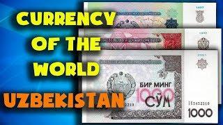 Currency of the world - Uzbekistan. Uzbekistani som. Exchange rates Uzbekistan. Uzbekistani banknote