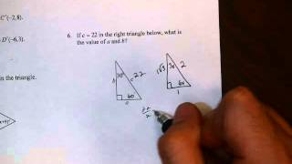 Unit 5 Review 1 Numbers 6, 7 Special Right Triangles