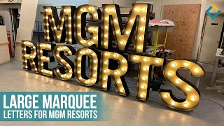 MGM Resorts Outdoor Marquee Letter Sign Lighting