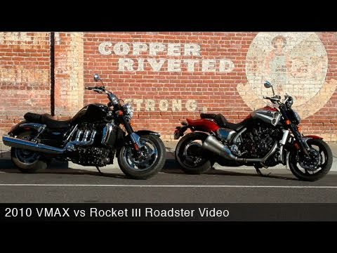 2010 Star VMAX vs Triumph Rocket III Roadster - MotoUSA