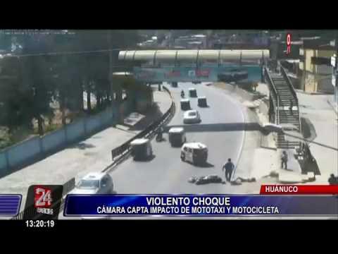 Huánuco: cámaras captan aparatoso accidente de tránsito