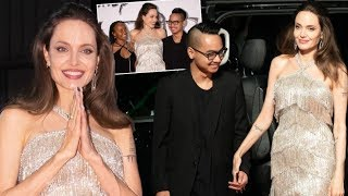Angelina Jolie & Her Son Maddox Reunion in Japan at the 'Maleficent: Mistress of Evil' Premiere