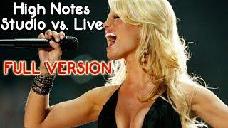 Jessica Simpson   High Notes Studio Vs. Live (Full Version)
