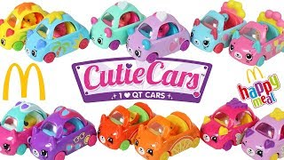 Shopkins Cutie Cars McDonalds Happy Meal Toys Full Set Unboxing Toy Review