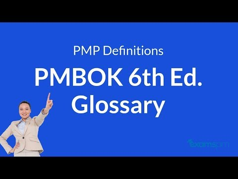 PMP Definitions: PMBOK 6th Edition Glossary (part 1) - YouTube