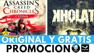 [PROMOCIÓN TERMINADA] ESTÁN REGALANDO ASSASSINS CREED CHRONICLES DE CHINA Y KHOLAT | Promoción