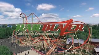 RailBlazer RMC Raptor Aerial Overview Rendering - California's Great America 2018