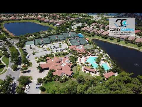 Treviso Bay Pool & Tennis Complex Drone Video in Naples, Florida