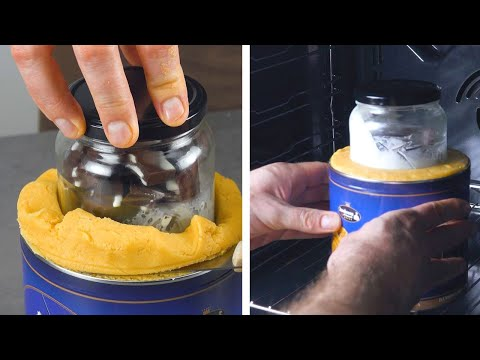Push A Jar Into The Cake & Pop It In The Oven | This Ain't Your Mama's Mug Cake!