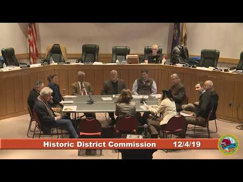 Historic District Commission 12.4.19