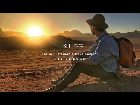 Master's in Sustainable Development with SIT Graduate Institute