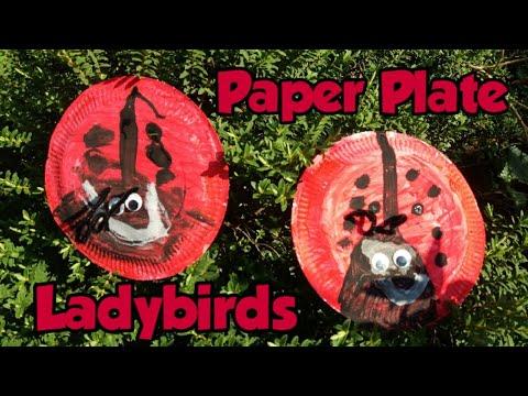 Paper plate ladybirds