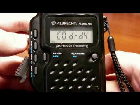 Обзор портативной радиостанции Albrecht AE2990 AFS