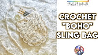 CROCHET Boho Sling Bag | Tutorial