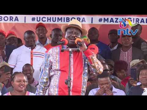'Kuna ubaya gani nikiita watu kwa bedroom?' - Raila's speech || #KibraByelection