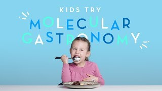 Kids Try Molecular Gastronomy | Kids Try | Cut
