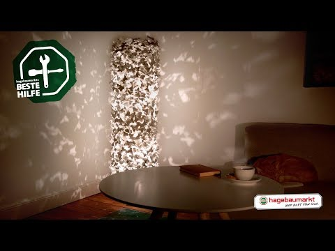 """Lampe mit Lichteffekten selber bauen - DIY Anleitung """"Efeu-Stehlampe"""""""