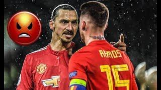 Sergio Ramos Vs Zlatan Irbahimovic Crazy Fights ● Fouls,tackles,Red Cards & Bad Boy Moments