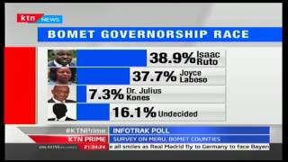 Infotrak latest polls show that Isaac Ruto is ahead of Joyce Laboso in the Bomet gubernatorial race