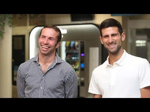 Novak Djokovic & Radek Stepanek FUNNY INTERVIEW – Prague 2018 (HD)