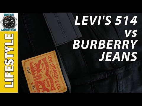 Levi's 514 vs Burberry Straight Fit Jeans