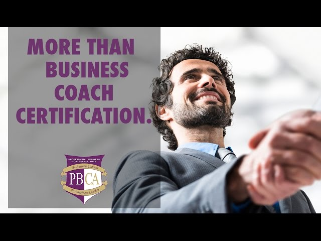 More Than Business Coach Certification...