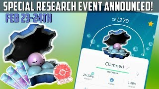 Clamperl  - (Pokémon) - Clamperl Special Research Day In Pokemon Go! Double Stardust!