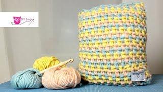 "Kissenbezug häkeln ""Plow Cushion"" - DIY Eule"