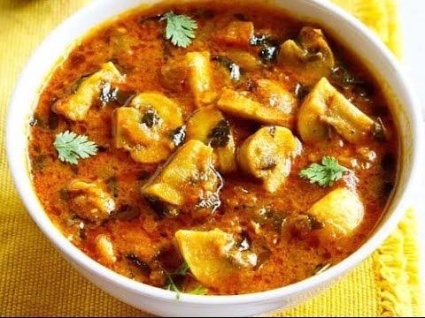 Video Mushroom Masala    Kadai Mushroom    Easy Indian Recipes    spicy Mushroom masala    Mushroom curry 