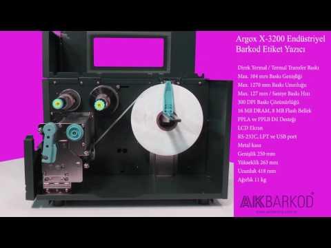 Argox X-3200 Endüstriyel Barkod / Etiket Yazıcı