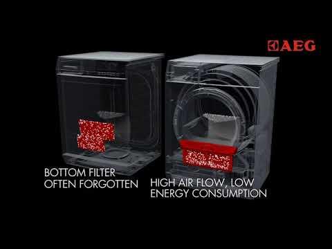 AEG Freestanding Condenser Tumble Dryer Heat Pump T7DEE845R - White Video 3