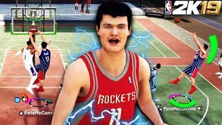 "7'6"" YAO MING TAKES OVER THE PARK!! BEST CENTER BUILD CAN'T BE STOPPED! (NBA 2K19 MyPark)"